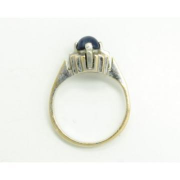 Fun 1940s-50s Art Deco Linde Star Sapphire 14K Yellow & White Gold Ladies Ring