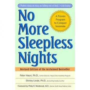 No More Sleepless Nights, Linde, Shirley, Hauri, Peter, 0471149047, Book, Good