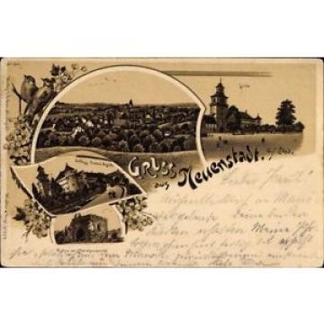 Litho Neuenstadt am Kocher, Linde, Hintere Ansicht vom Schloß, Ruine - 1255922