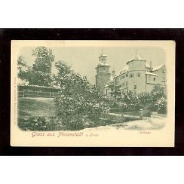 AK Gruss aus Neuenstadt a. Linde Schloss 1900