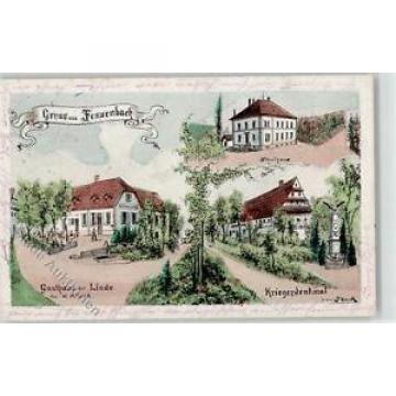52053161 - Fessenbach Gasthaus zur Linde Inhaber W. Mueller Schulhaus Kriegerden