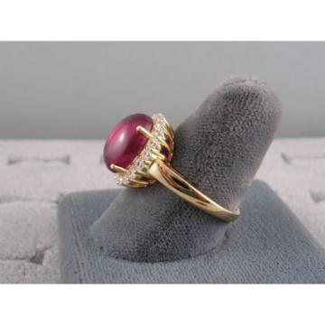PMP LINDE LINDY TRANSPARENT RED STAR SAPPHIRE CREATED HALO RING YLGD PLT .925 SS