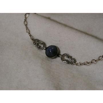...Vintage Sterling Silver,3.5ct 9mm Linde/Lindy Blue Star Sapphire Bracelet...
