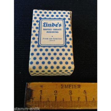alte Pappschachtel,Linde`s Kaffee Ersatz Mischung,KathreinerKaufladen Zubehör