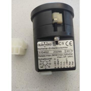 Indicador de descarga 80V Paleta E20/25/30 Elektron 513452 Linde Nº 9460717