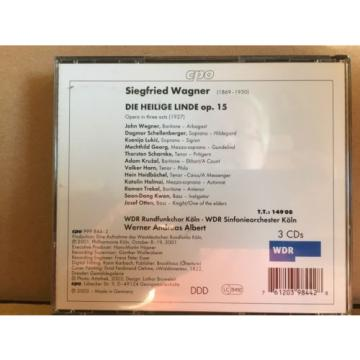 Siegfried Wagner, Die Heilige Linde 3 CD Fat Box Set, Koln, Albert