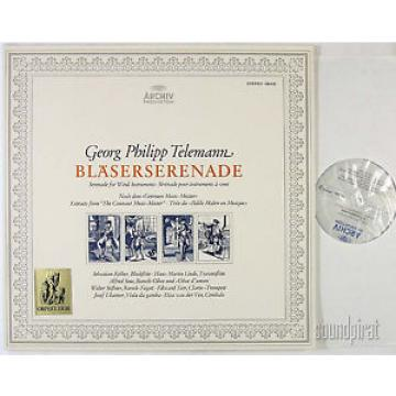 LINDE ULSAMER TELEMANN SERENADE WIND INSTRUMENTS ARCHIV STEREO LP 198430 AS NEW