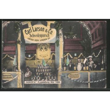 AK Berlin, Ausstellung Dekofa 1920, Carl Larson Schwedenpunsch, Unter den Linde