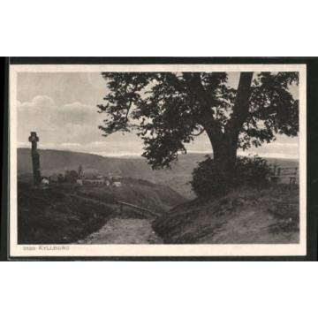 schöne AK Kyllburg, Ortsansicht von der Linde aus