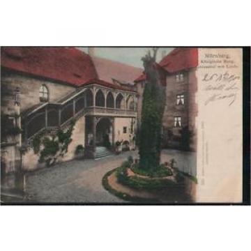 117.057  Nürnberg, Königliche Burg, Schlosshof mit Linde, gl1902