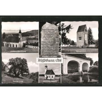 alte AK Wessobrunn, Tassilo-Linde, Römerturm, Wessobrunner Gebet