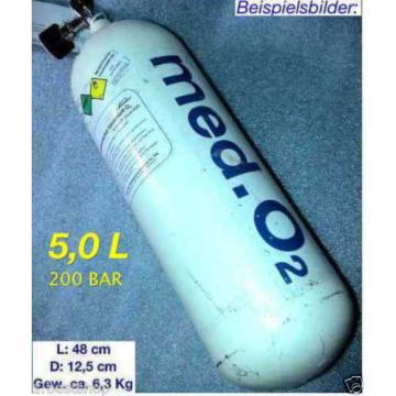 5L Med Oxygen Bottle 200BAR Oxygen Bottle O2 Linde Dräger Oxylog Bottle