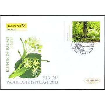 BRD 2013: Blühende Linde! Post-FDC der selbstklebenden Wohlfahrtmarke Nr. 2986!