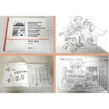 Ersatzeilkatalog Linde TG16 Stapler Ersatzteilliste 1988 Spare Parts List