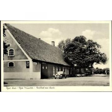 Ak Bad Laer in Niedersachsen, Straßenpartie am Gasthof zur Linde - 1135887