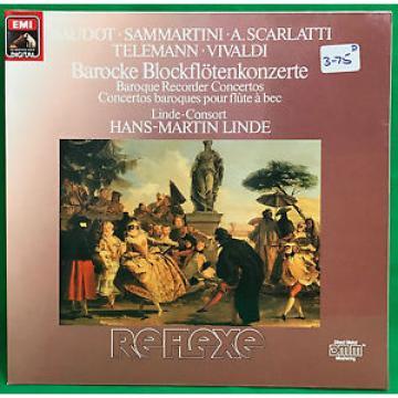 Hans-Martin Linde Baroque Recorder Concertos Telemann Scarlatti  LP NM/EX