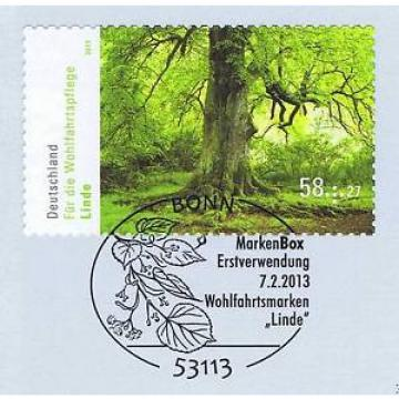 BRD 2013: Linde! Selbstklebende Wohlfahrtmarke Nr. 2986! Bonner Stempel! 1A! 153