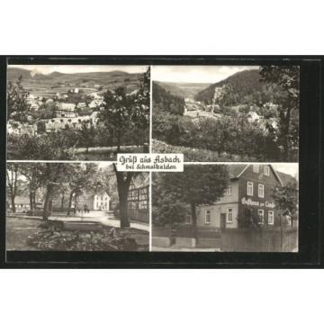 schöne AK Asbach, Panorama, Teilansicht, Partie im Ort, Gasthaus zur Linde