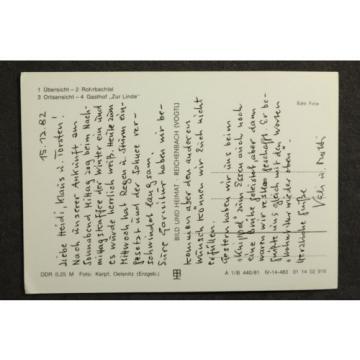Hundshübel Kr. Aue mit Gasthof zur Linde / DDR AK 5