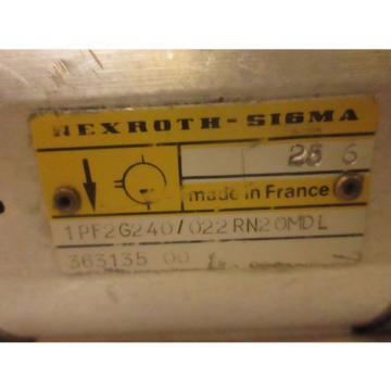 REXROTH SIGMA HYDRAULIC GEAR PUMP 1PF2G240/022PN2OMDL