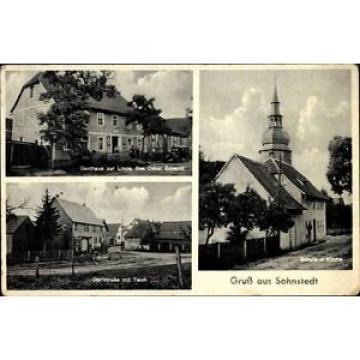 Ak Sohnstedt Mönchenholzhausen Thüringen, Gasthaus zur Linde, Bes.... - 10024860