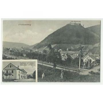 Altenbamberg Gasthaus zur Linde & Bahnübergang 1910