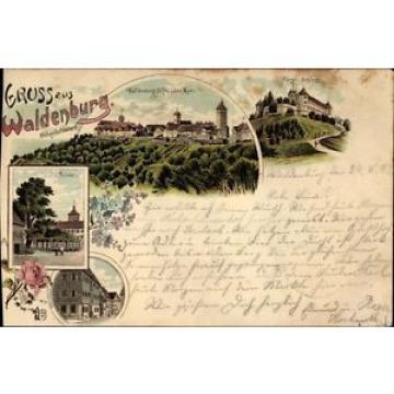 Litho Waldenburg im Hohenlohekreis, Pfarrhaus, Linde, Fürstliches... - 1620121