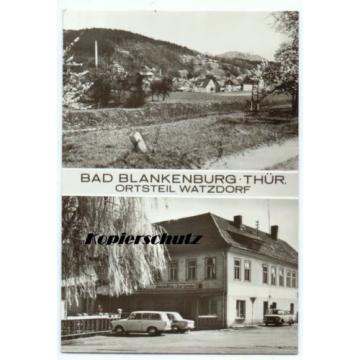 Foto Ak Bad Blankenburg Ortsteil Watzdorf, Gaststätte Zur Linde, Totale