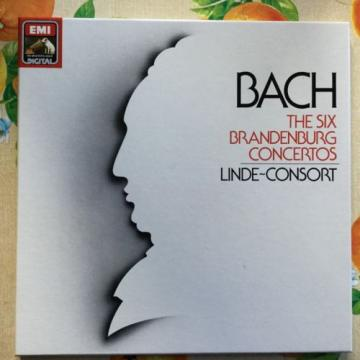 BACH  Brandenburg Concertos  2LPs  LINDE-CONSORT   HANS-MARTIN LINDE