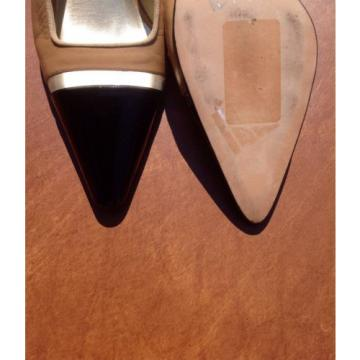 Susan van der Linde Marguerite Camel Leather Slingback Heel -39 1/2 Retail $695