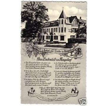 AK, Rengsdorf, Gasthof und Hotel zur Linde, Liedtext, um 1960