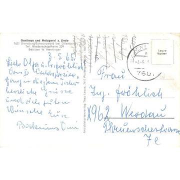 AK Gasthaus und Metzgerei z. Linde Diersburg/Schwarzwald Postkarte gel. 1965