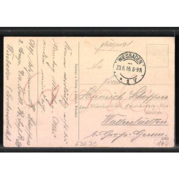 AK Kempfenbrunn, Gasthaus zur Linde v. K. Lindenberger, Gesamtansicht 1916