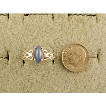 VINTAGE LINDE LINDY SIGNED CF BLUE STAR SAPPHIRE CREATED RING RD PLATE .925 S/S