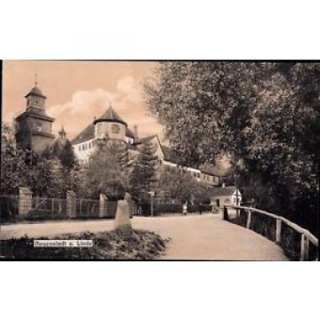 Ak Neuenstadt an der Linde, Straßenpartie mit Turm - 962291