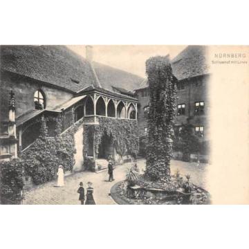 Nuernberg Schlosshof mit Linde Castle