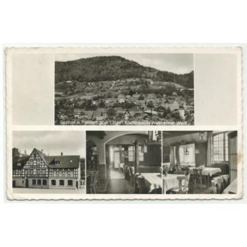"Klaffenbach (Rudersberg) Gasthof & Pension ""Zur Linde"" 1963 Landpoststempel"