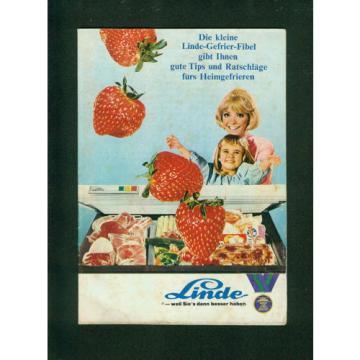 Altes Werbeheft Die kleine Linde-Gefrier-Fibel  1960er Zeichnungen Tips Küche