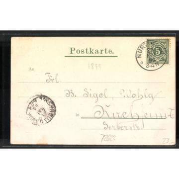 alte AK Nürtingen, Gasthof zur Linde v. G. Häfele 1899