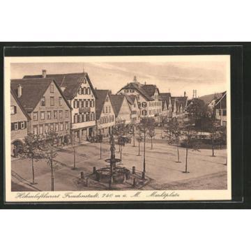 alte AK Freudenstadt, Marktplatz mit Hotel Linde