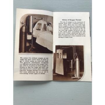 Vintage Linde Oxygen Therapy Brochure Medical Treatments 1934 Hospital Doctor