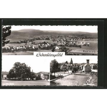 alte AK Schenklengsfeld, Alte Linde, Schwimmbad, Ortsansicht