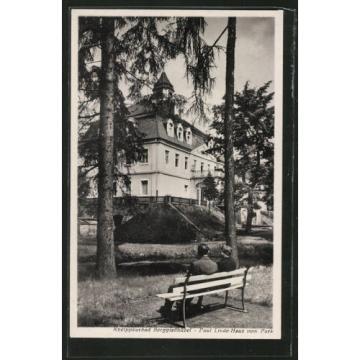 tolle AK Berggießhübel, Kneippkurbad, Paul Linde-Haus vom Park