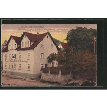 schöne AK Löwenstein, Gasthaus zur Linde v. Gottfried Desselberger