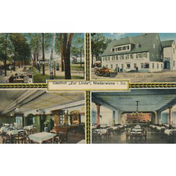 Niederwiesa Gaststätte Zur linde  Ansichtskarte beschrieben 1915,