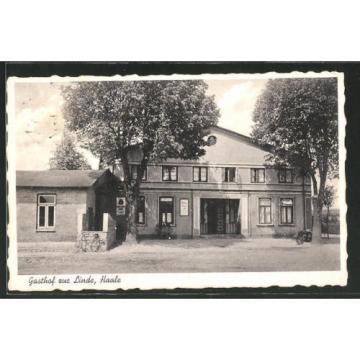 tolle AK Haale, Blick auf den Gasthof zur Linde 1938