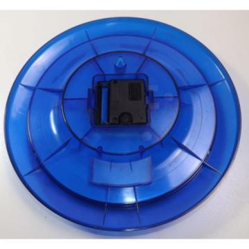 Wanduhr Linde Uhr Werbung Reklame Kunststoff Blau Sekundenzeiger Sammler SCHROTT