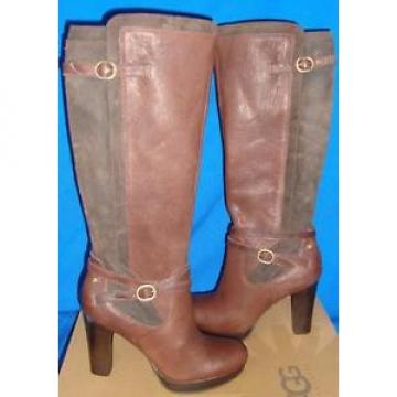 UGG Australia LINDE Knee High Tall Leather Suede Boots Size US 7 NEW #1005655