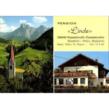 Ak Kastelruth Castelrotto Südtirol, Pension Linde, Fam. Mayrl,... - 1233874