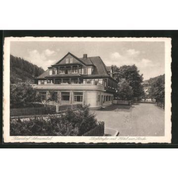 schöne AK Sitzendorf, Dorfstraße mit Hotel zur Linde